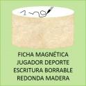 Fichas magnéticas jugadores deporte con escritura rotulador (6 fichas)