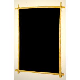 Pizarra negra 1 cara marco madera (caña vegetal natural).