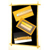 Pack pizarra negra 1 cara marco madera + 3 accesorios (caña vegetal natural)