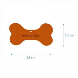 MASCOTAS: Placas siluetas madera para collar