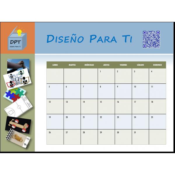 Calendario mensual 2015 personalizado imán nevera borrable