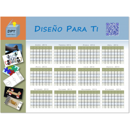 Calendario anual 2015 personalizado imán nevera  borrable