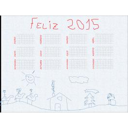 Calendario anual 2015 personalizado imán nevera
