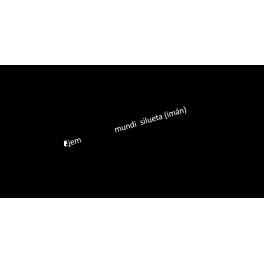 Mapa Mundi Silueta imán nevera + 6 pins