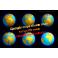 Mapas Siluetas imán nevera personalizadas + 6 pins magnéticos