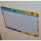 Organizador horario borrable imán personalizado